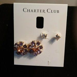 Charter club earring set